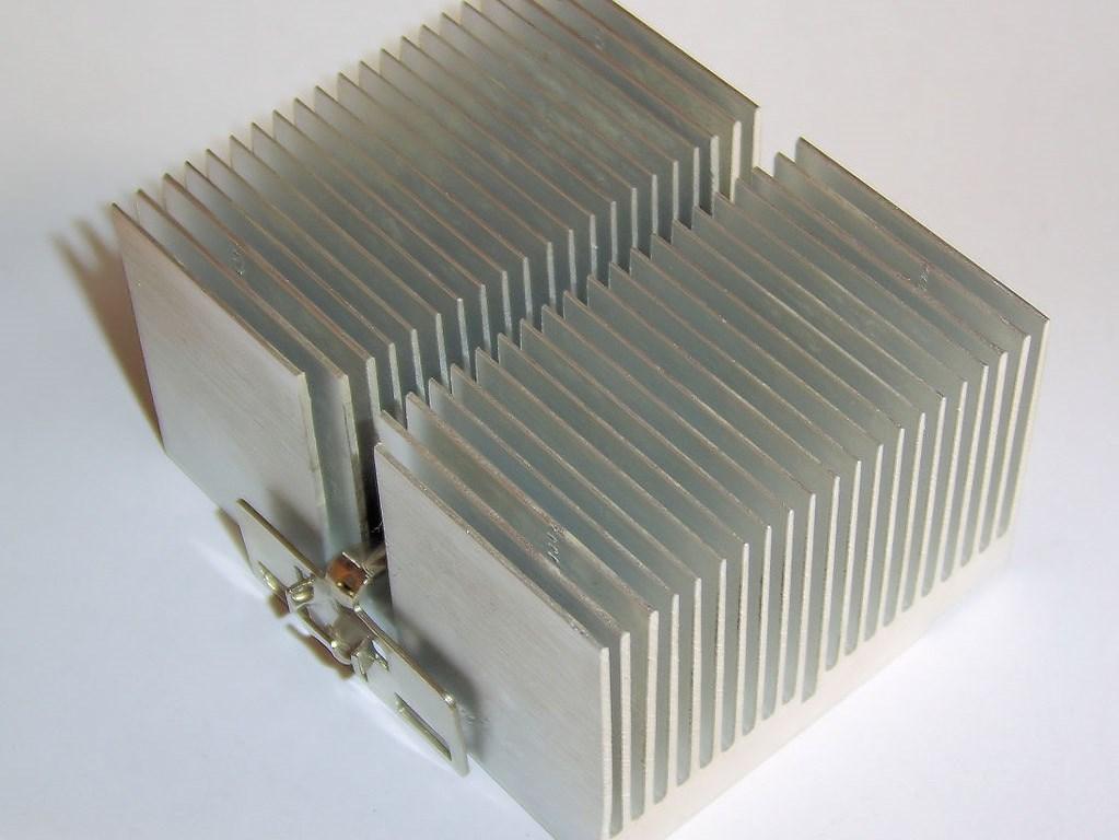 Kühlrippen in einem Class-A-Verstärker