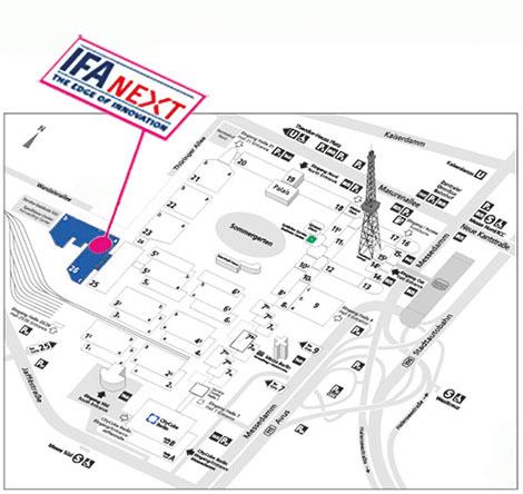 IFA NEXT Standort in der Halle 26 auf der IFA 2017