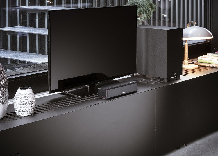 The Cinebar One with subwoofer can be used as a PC and laptop speaker at home.