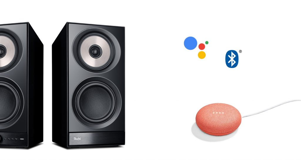 Google Home Mini with the Teufel Stereo M