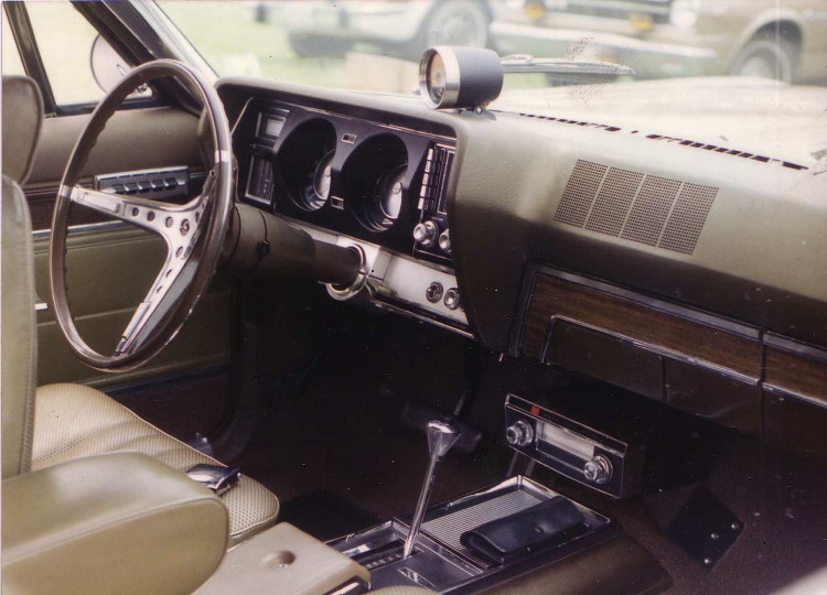 The interior of a US car.