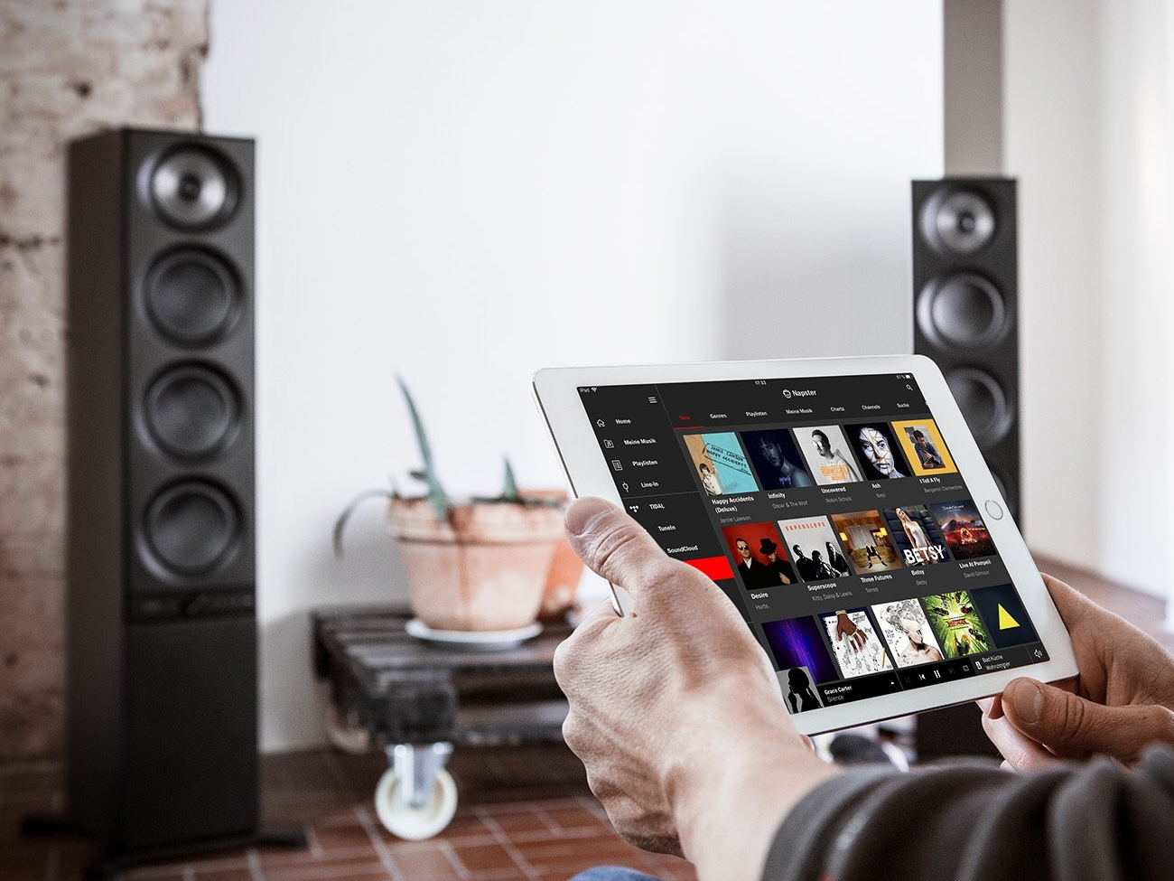 Teufel Stereo L: Streaming with napster
