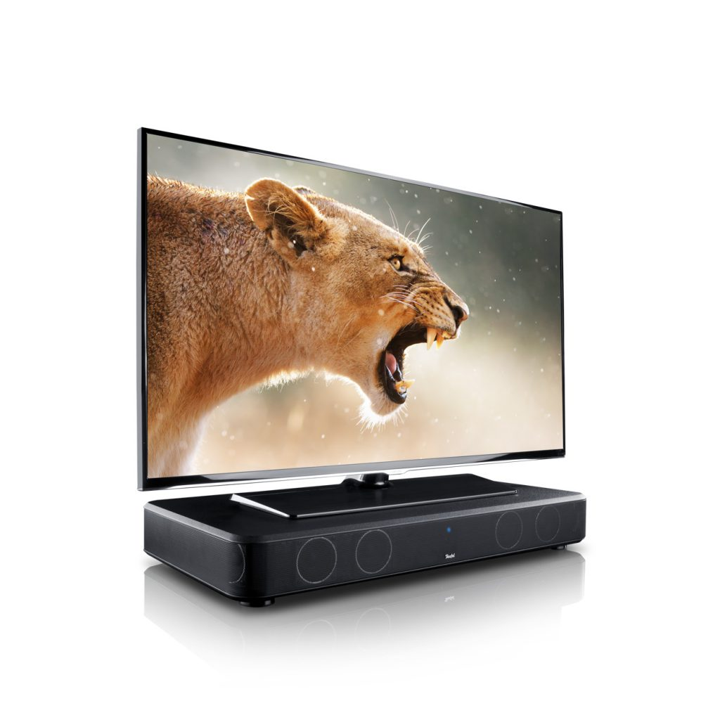 Cinebase - compacte soundbase voor onder de tv