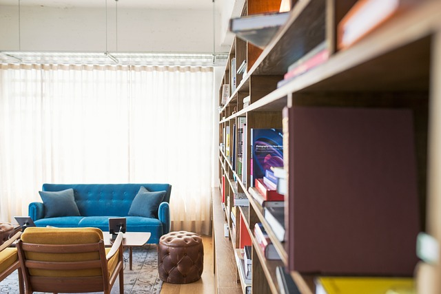 A bookcase can improve room acoustics
