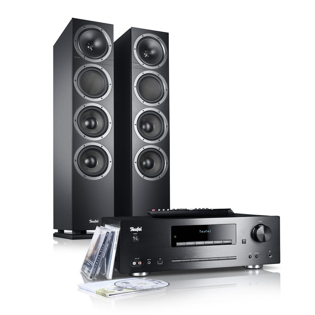 Teufel Kombo 500 stereo towers with CD/Bluetooth receiver