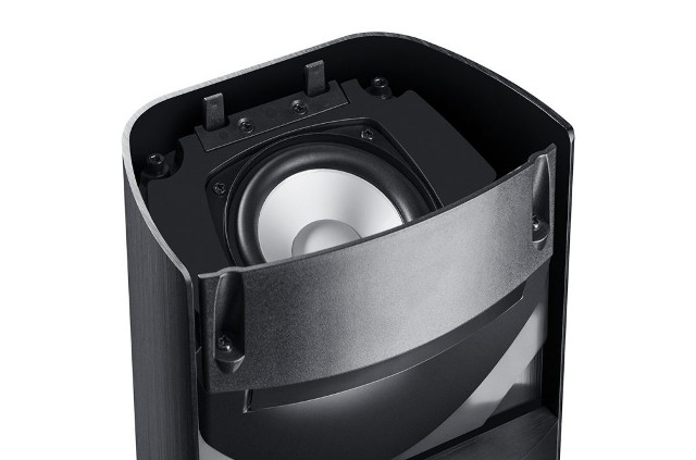 A speaker from Teufel's LT 5 licensed by Dolby Atmos