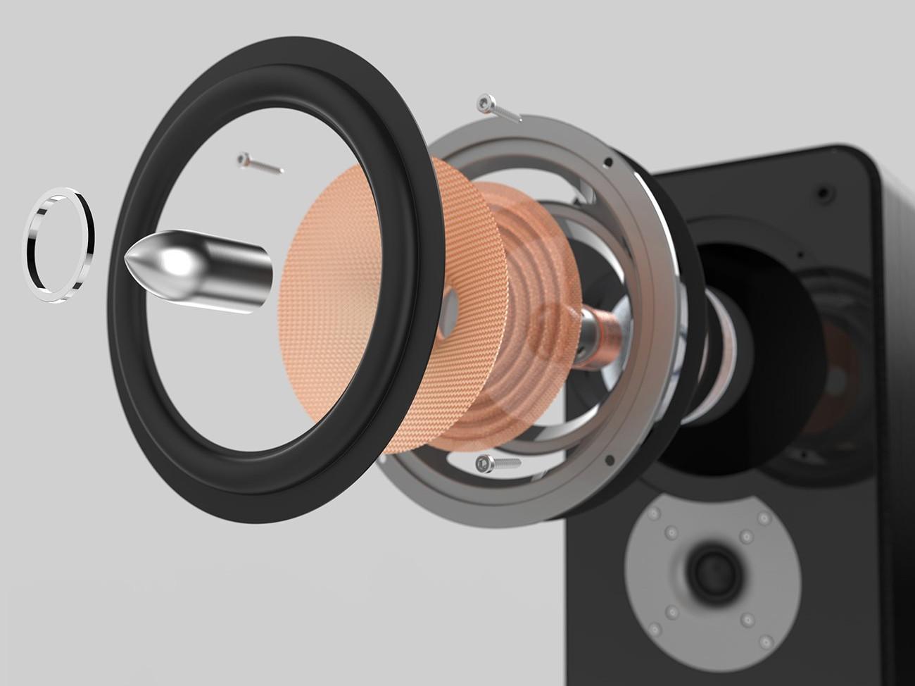 Powerful loudspeaker with high watt power